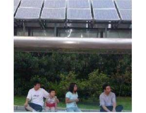 Solar bus station advertisement