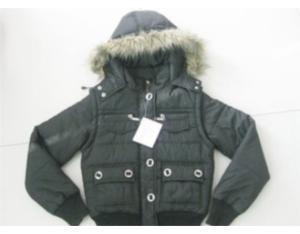 Women's Slim Short multi pocket hooded coat