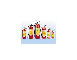 Portable stored-pressure powder fire extinguisher
