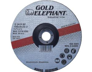 Gold Elephant 7 inch grinding disc for aluminum and non-ferrous metals cutting.