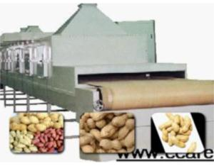 continuous roasted peanuts microwave drying machine
