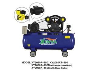 2080A-150C Diesel engine belt-driven air compressor