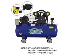 2090C-150C diesel engine belt-driven air compressor