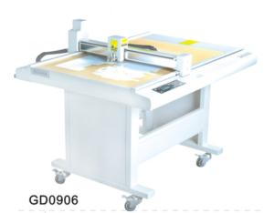 GD0906 paper box die cut plotter sample flat bed cutting machine