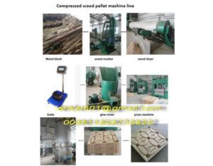 compressed wood pallet machine