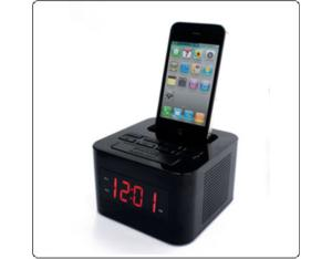 Clock radio with iPod/iPhone docking iP15