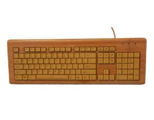 full natural bamboo 104 keys wired bamboo keyboard