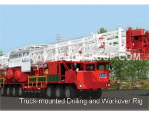 truck-mounted drilling and  workover rig