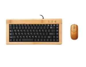 Eco-friendly natural bamboo keyboard and mouse  with 88 keys