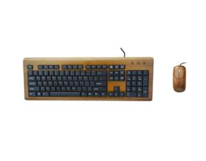 Bamboo keyboard and mouse with 104 keys