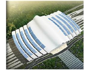 Wuhan Railway Station Solar 2.2MW photovoltaic power generation projects