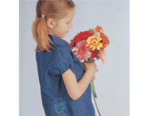Kids denim embroidered shirts