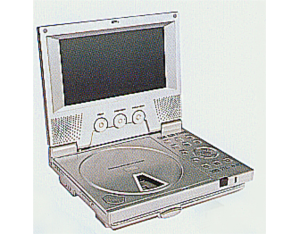 Portable DVD Player with 6.5/7 inches TFT-LCD Monitor