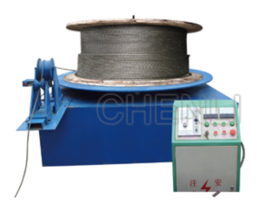 WIRE ROPE SETTING FREE AND WRAPPING MACHINE