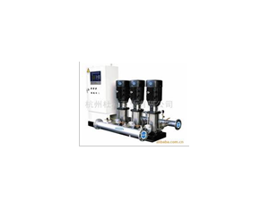 Constant pressure water supply system frequency