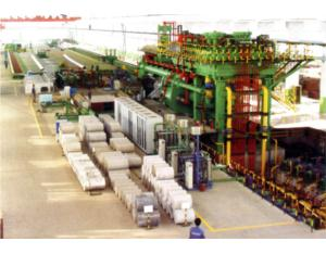100MN double action aluminum extrusion press line
