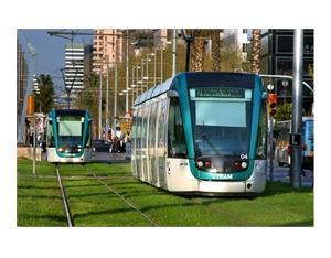 Barcelona Citadis tramway, Spain, 2006. ALSTOM Transport / R.Vilalta