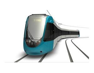 3D image of the Nantes-Pays de Loire Citadis-Dualis. Alstom Transport / Design & Styling