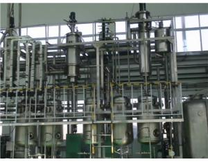A thin film evaporation two molecular distillation equipment