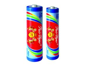 Alkaline batteries Color double tiger