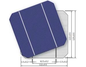 SOLAR CELLS  125M-2BB