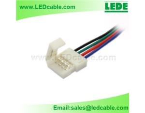Plastic Solderless connector wire For RGB LED Strip