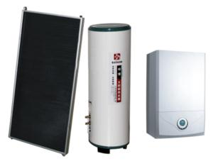 Solar energy and gas furnace system