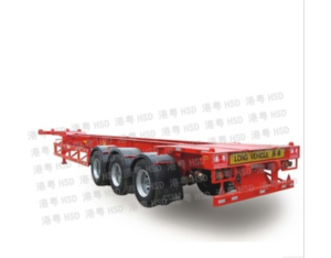 45 feet of triaxial goose neck skeleton semi-trailer truck HSD9373TJZG