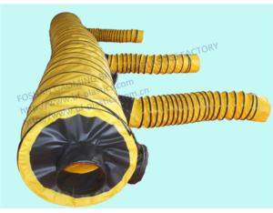 A complete set of yellow PVC ventilation duct for even air distribution