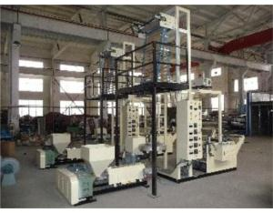 Blowing and printing machine