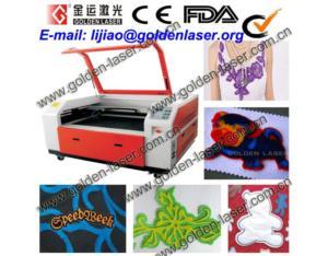 Laser Machine Cutting Applique Logo