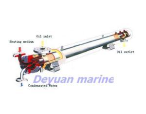 Oil heater for marine boiler