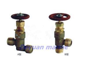 marine male thread bronze stop check valve