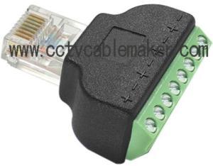 RJ45 to SCrew terminal,RJ45 screw terminal modular plug