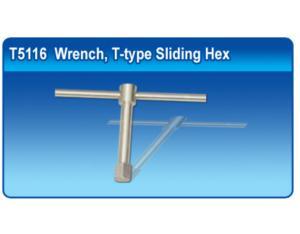 Titanium Wrench, T-type Sliding Hex