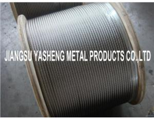 304/316/316 stainless steel wire rope 7x7,7x19