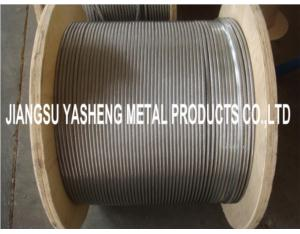 304/316/316L Stainless Steel Wire Rope 1x19