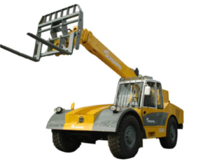 The telescopic boom forklift truck
