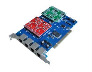 TDM410P 4 Port FXO FXS Asterisk Card for Trixbox Elastix Zaptel Dahbi