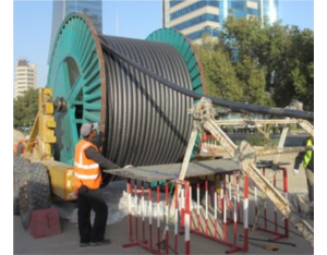 Oil-filled cable design supply construct