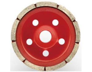 Diamond cup wheels-single row