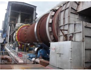 Large rotary kiln combustion and temperature contr