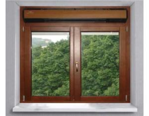 Push-pull sliding window invisible air conditionin