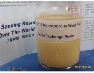 D113 Macroporous Weak Acid Cation Exchange Resin