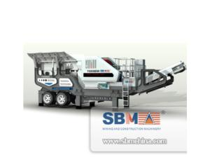 Portable type  mobile Jaw crusher Plant, crushing line