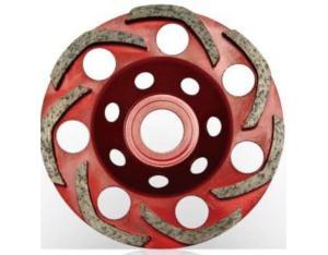 Diamond cup wheel-moon type