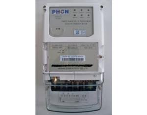 three phase split prepaid electric energy meter