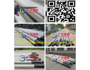 V shaped wire welded stainless steel well screen