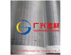 manufacture hot sale v-wedge wire continuous slot filter wire wrapped water well screen tube