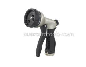Multi-pattern metal front trigger spray gun